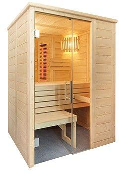 Saunakabine Sentiotec Domo Sauna Alaska Mini Infra + Set