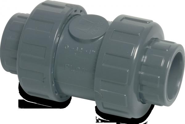 Mega Kegelrückschlagventil PVC-D 50 mm Klebemuffe 16 BAR DN40 GRAU TYP 5000