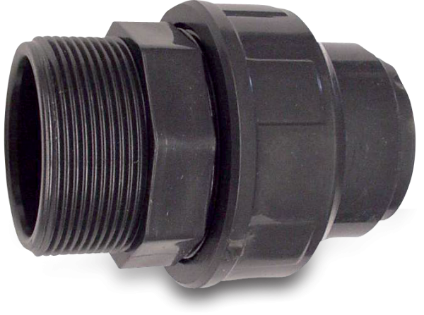 """Hydro-s Verschraubung PVC D40mm x 1 1/4"""" Klebemuffe x Außengewinde PN10"""