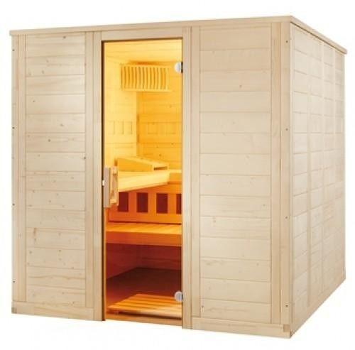 Sauna Nordische Fichte Wellfun Large 2,07 x 2,06 x 2,04 m