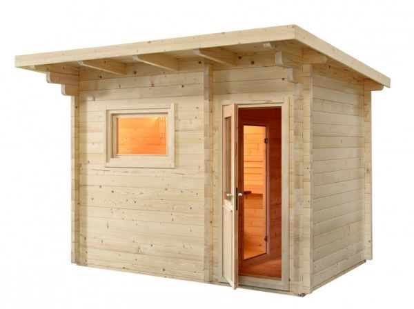 Sentiotec Domo Sauna Lava 341x230x270cm Saunakabine Außensauna