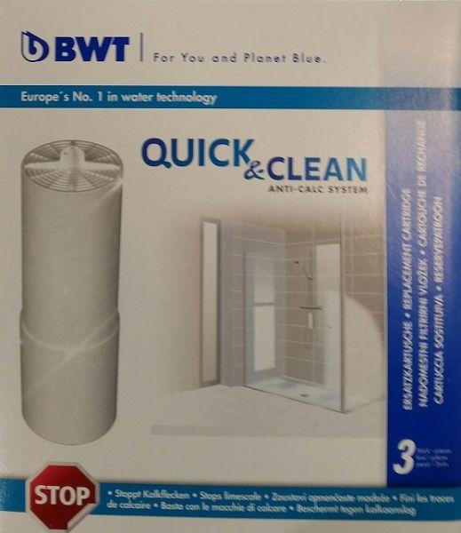 BWT Quick & Clean - Enthärtungs-Kartusche 3 Stück