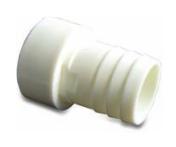Schlauchtülle ABS 50 mm x 38 mm Stutzen x Schlauchtülle PN10 WEISS