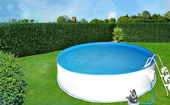Poolset Safety Rund Ø 2,00 x 0,90 mit Sandfilteranlage Ø250mm 3,6m³/h
