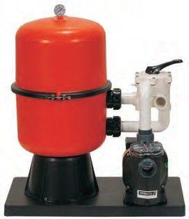 Kunststoff-Spannringfilteranlage Bilbao D-400