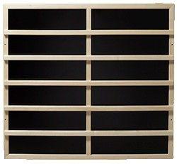 Infrarot-Wärmeplatten 420mm x 738mm, 230V/100W mit Rückenlehne in hellem Holz