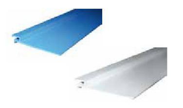 Klemmprofilleiste für Folien ( Länge 2m) weiß oder blau