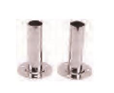 Flanschrohr D43, V4A für Leitern Typ Muro, Standard und Mixed per Paar