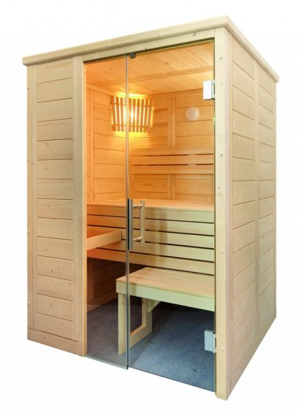 Domo Sauna Alaska Mini 160 x 110 x 204cm aus massiver Fichte