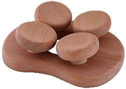 Sauna Saunakopfstütze ergonom. Espe oder Zedernholz