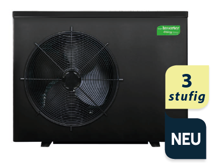 Smart ECO Inverter Wärmepumpe 3- stufig H+C 20,0 kW (inkl. Winterabdeckung und Vibrationsabsorber)