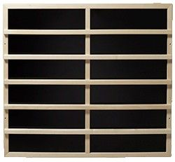 Infrarot-Wärmeplatten 302mm x 818mm, 230V/175W ohne Rückenlehne