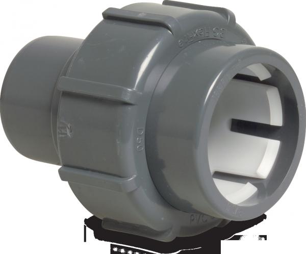 """""""FlexFit Adapter Sockel PVC-D 50 mm - D 63 mm x 1 1/2"""""""" Klemm x Imperial Klebestutzen"""""""