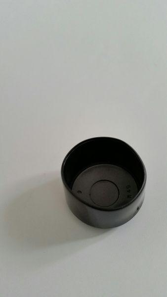 Rundrohrkappe PVC für 40 mm Rohr schwarz