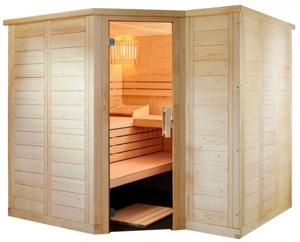 Domo Sauna Polaris Large Fichte mit Linde 234x206x204cm