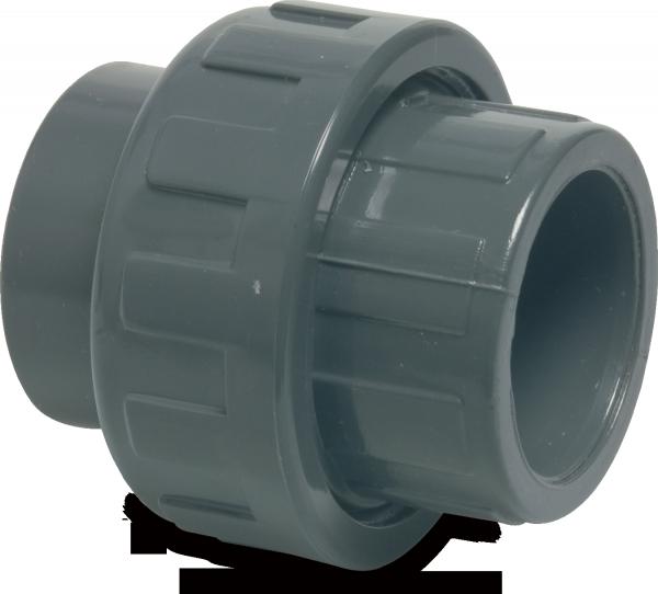 Verschraubung PVC D50 mm Klebemuffe PN16