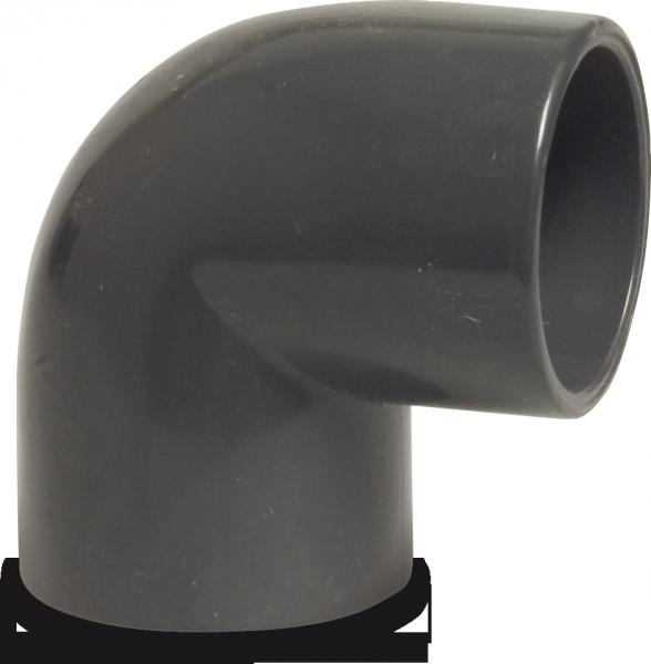 Hydro-s Winkel 90° PVC D50 mm Klebemuffe PN 16