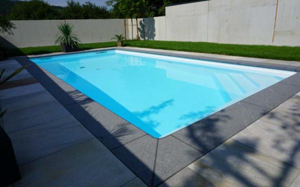 Achensee Iso Massiv Pool- Sets Rechteckig mit Folie 1,00mm (adriablau), Einbauteile, Filteranlage
